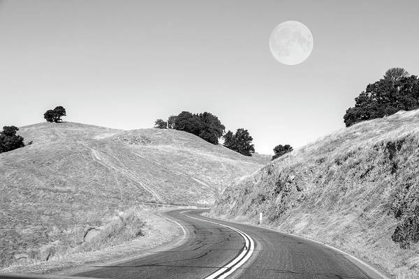 Wall Art - Photograph - Highway One Mendocino County Moon by Betsy Knapp