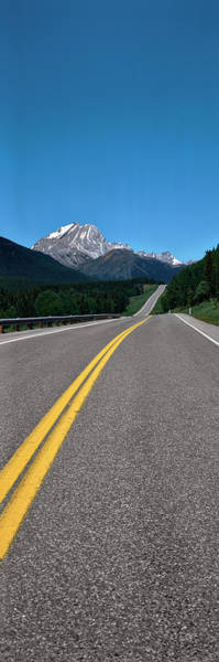 Vertical Line Wall Art - Photograph - Highway With Mountain by Panoramic Images