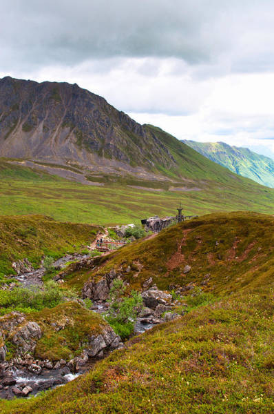 Aerial Tramway Wall Art - Photograph - Hiking Hatcher Pass by Cathy Mahnke