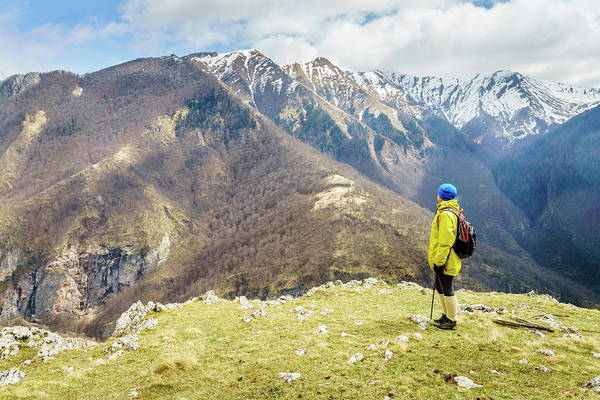 Wall Art - Photograph - Hiking In Bosnian Mountains by Alexey Stiop