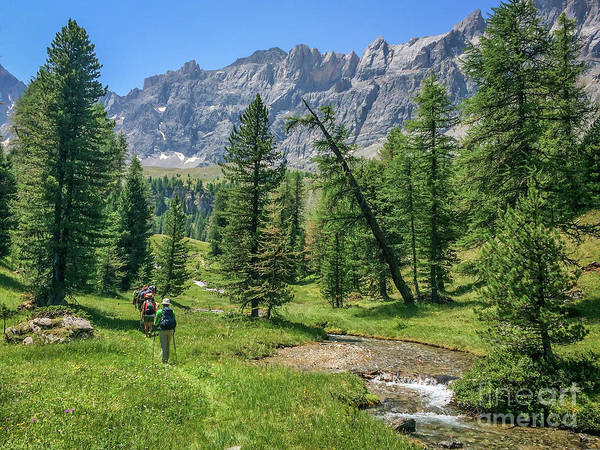 Hikers Photograph - Hiking In Queyras by Delphimages Photo Creations
