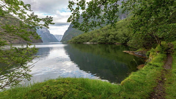 Photograph - Hiking The Old Postal Road By The Naeroyfjord, Norway by Andreas Levi