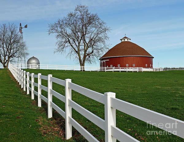 Wall Art - Photograph - Hileman Round Barn 2, Indiana by Steve Gass