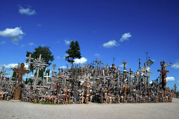 Pilgrimage Photograph - Hill Of Crosses by Ernest Mcleod