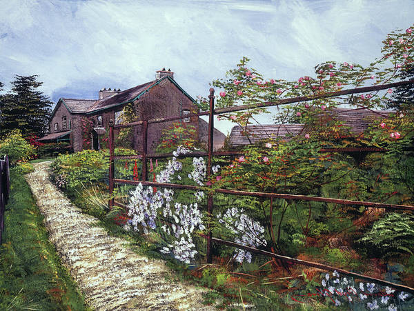 Wall Art - Painting - Hill Top, Beatrix Potter Country House by David Lloyd Glover