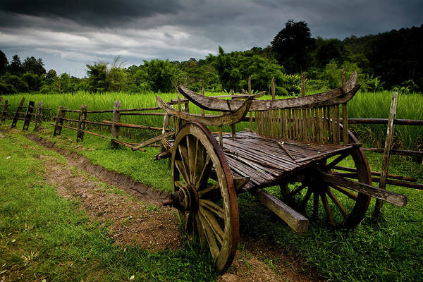Chiang Mai Province Photograph - Hill Tribe Wagon, Chiang Mai by Russell Morales