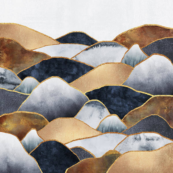Natural Digital Art - Hills by Elisabeth Fredriksson