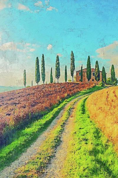 Painting - Hills Of Tuscany - 28 by Andrea Mazzocchetti