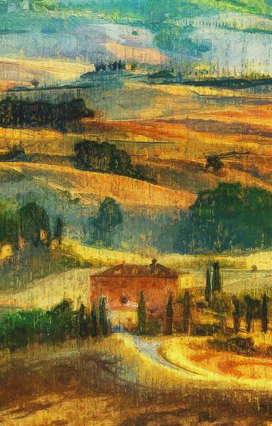 Painting - Hills Of Tuscany - 29 by Andrea Mazzocchetti