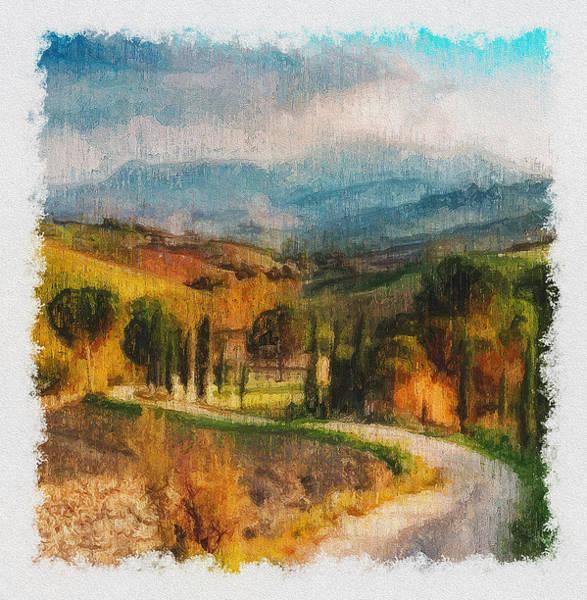 Painting - Hills Of Tuscany - 32 by Andrea Mazzocchetti