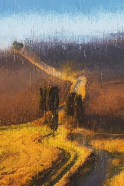Painting - Hills Of Tuscany - 33 by Andrea Mazzocchetti