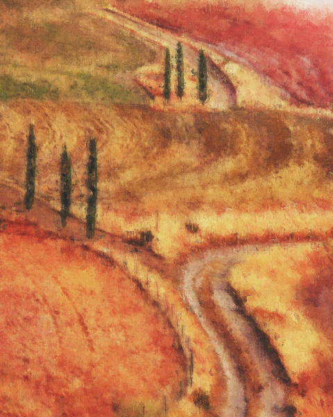 Painting - Hills Of Tuscany - 34 by Andrea Mazzocchetti