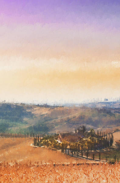 Painting - Hills Of Tuscany - 35 by Andrea Mazzocchetti