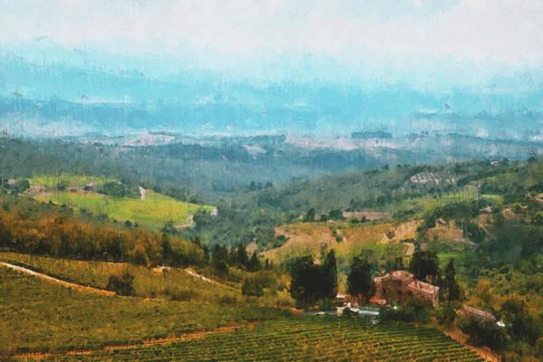 Painting - Hills Of Tuscany - 36 by Andrea Mazzocchetti