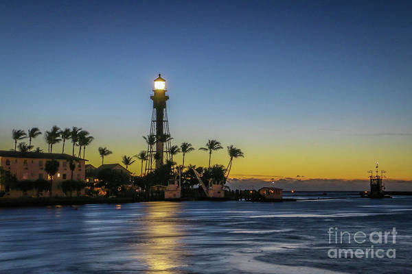 Photograph - Hillsboro Light Reflection by Tom Claud