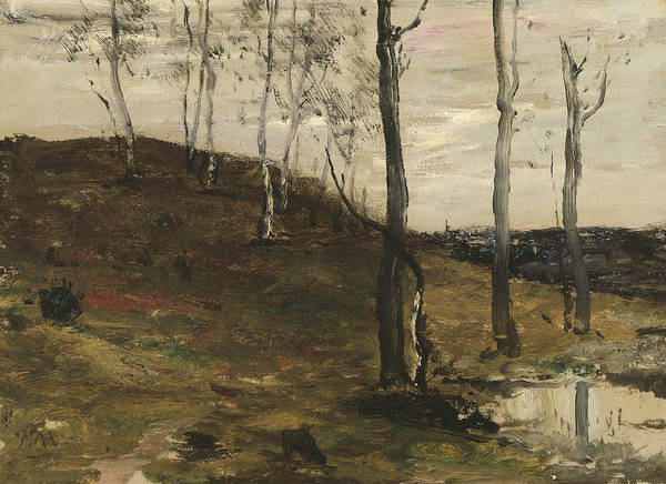 Painting - Hillside With Trees by William Morris Hunt