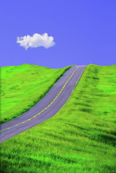 Wall Art - Photograph - Hilly Road Digital Composite by Michael Orton