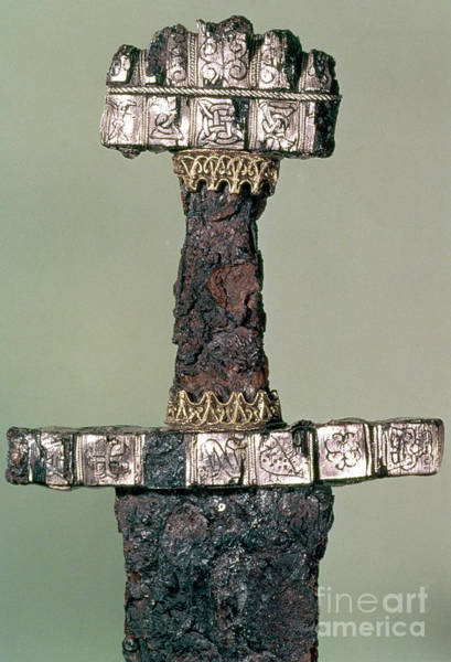 Wall Art - Photograph - Hilt Of A Viking Sword Found At Hedeby, Denmark, 9th Century by Danish School
