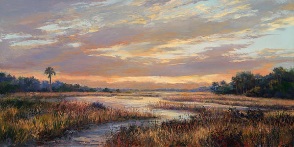 Lake Okeechobee Wall Art - Painting - Hilton Sunrise by Laurie Snow Hein