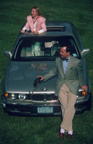 1983 Photograph - Hiltons With Bmw by Slim Aarons