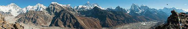 Himalaya Everest Mega Panorama Snow Art Print