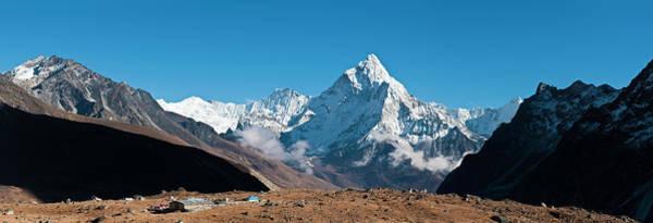 Himalaya Snow Summits Remote Mountain Art Print by Fotovoyager