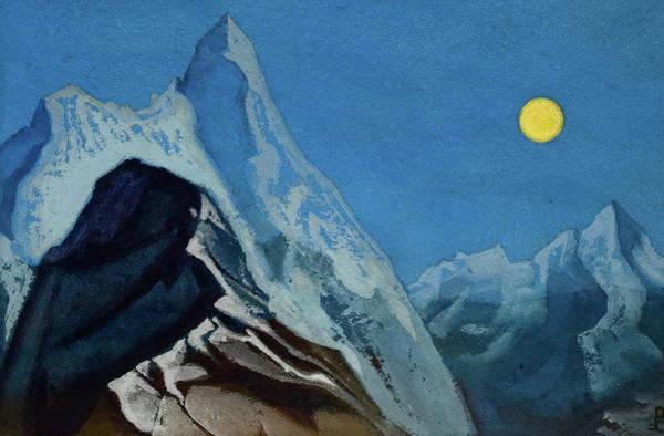 Wall Art - Painting - Himalayan Landscape, 1930-1947 by Nicholas Roerich