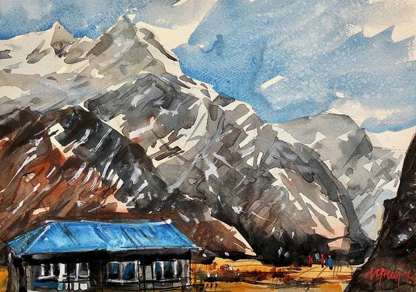 Wall Art - Painting - Himalayas, Nepal 4  by Ugljesa Janjic