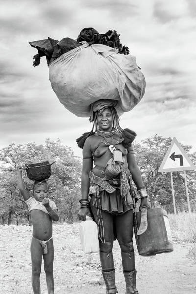 Photograph - Himba Both Carrying  by Mache Del Campo