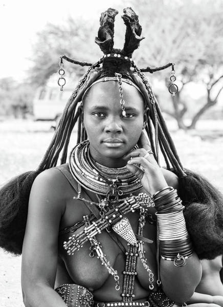 Photograph - Himba Style Girl by Mache Del Campo