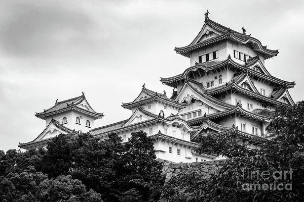 Kansai Wall Art - Photograph - Himeji Castle, Japan by Delphimages Photo Creations