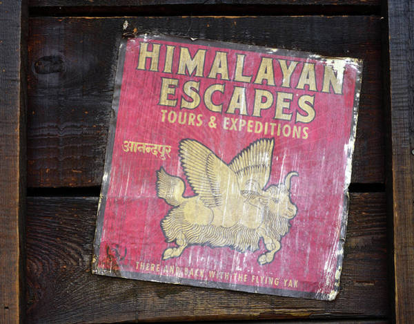 Wall Art - Photograph - Himalayan Escapes Sign by David Lee Thompson