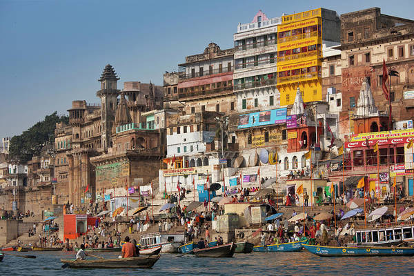 Ganges River Photograph - Hindu Pilgrims Bathe River Ganges by Tim Graham
