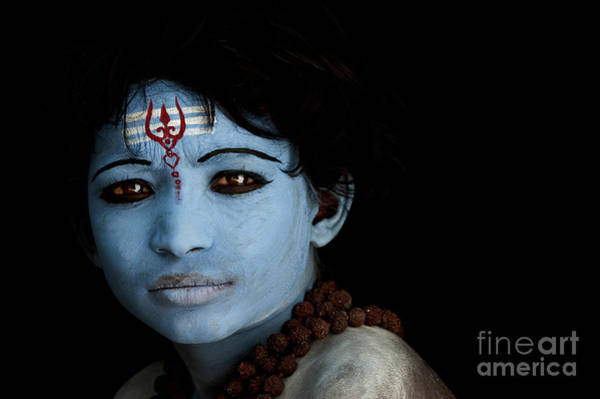 Hindu Photograph - Hindu Shiva Boy by Tim Gainey