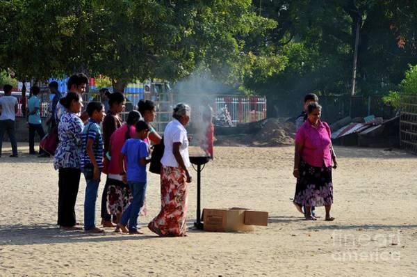 Photograph - Hindu Tamil Worshippers Make Offerings At Compound Of Nallur Kandaswamy Temple Jaffna Sri Lanka by Imran Ahmed