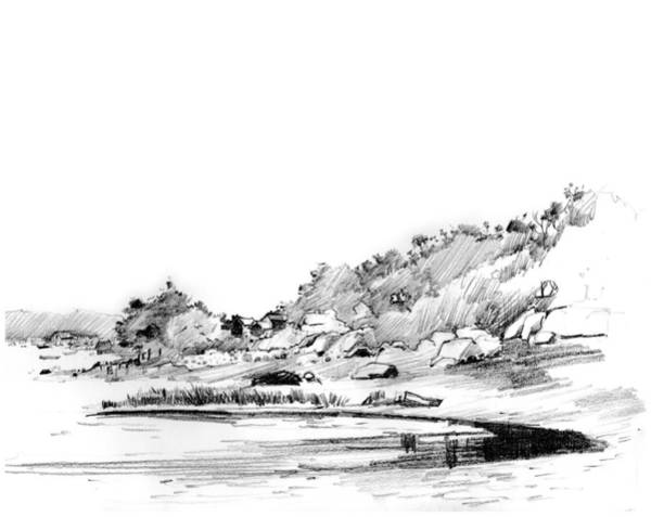 Drawing - Hingham Bay  by P Anthony Visco