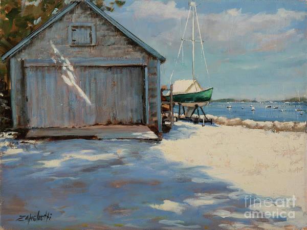 Country Club Painting - Hingham's Summer Shadows by Laura Lee Zanghetti