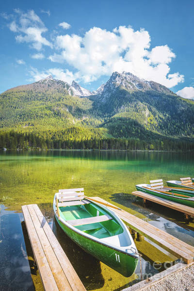 Wall Art - Photograph - Hintersee Boats by JR Photography