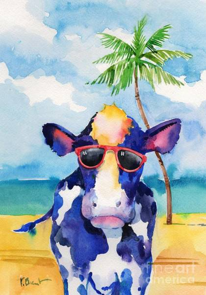 Wall Art - Painting - Hip Shades - Cow by Paul Brent