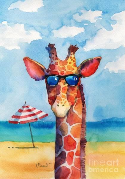 Sunglasses Painting - Hip Shades - Giraffe by Paul Brent