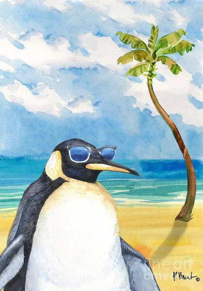 Wall Art - Painting - Hip Shades - Penguin by Paul Brent