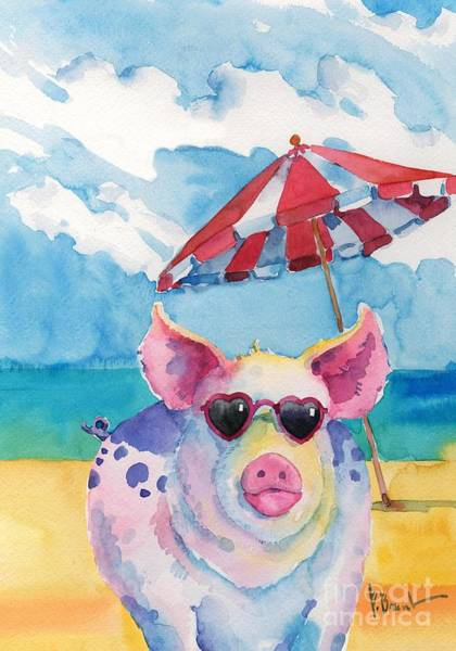 Sunglasses Painting - Hip Shades - Pig by Paul Brent