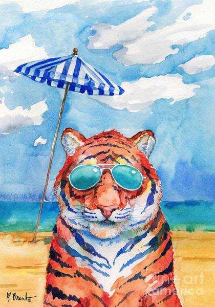 Sunglasses Painting - Hip Shades - Tiger by Paul Brent