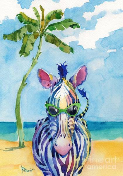 Wall Art - Painting - Hip Shades - Zebra by Paul Brent