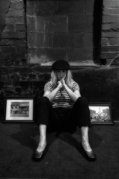 Photograph - Hippie In Beret Sitting On The Floor by Dan Friend