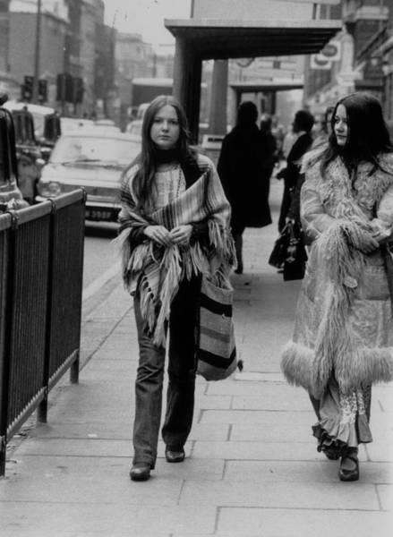 Poncho Wall Art - Photograph - Hippy Fashion by Evening Standard