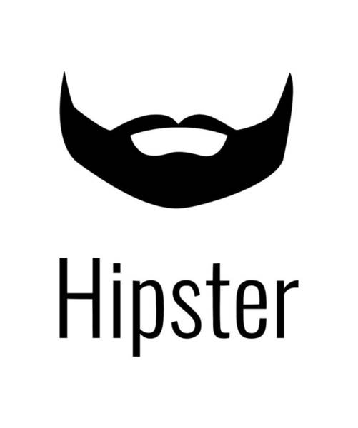 Hardrock Digital Art - Hipster 2 by Tee Titan