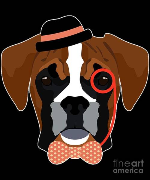 Digital Art - Hipster Boxer Dog by Flippin Sweet Gear
