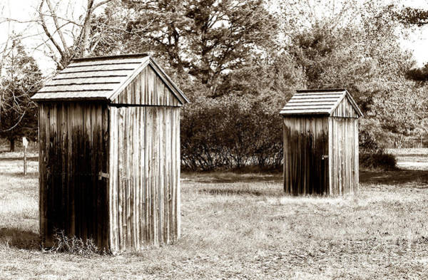 For Her Photograph - His And Hers Vintage Outhouses Pine Barrens by John Rizzuto