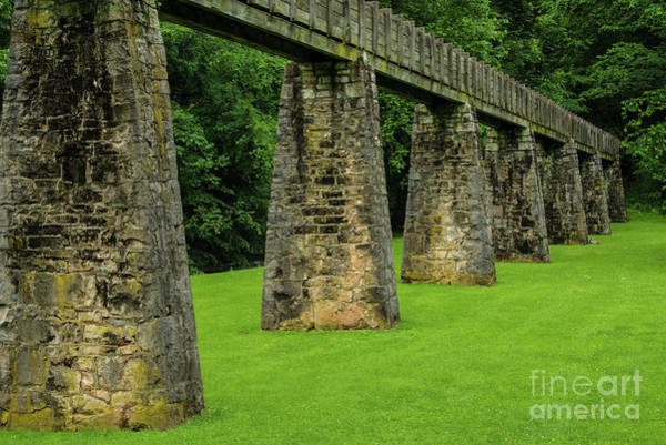 Photograph - Historic Aqueduct - Spring Mill - Mitchell - Indiana by Gary Whitton